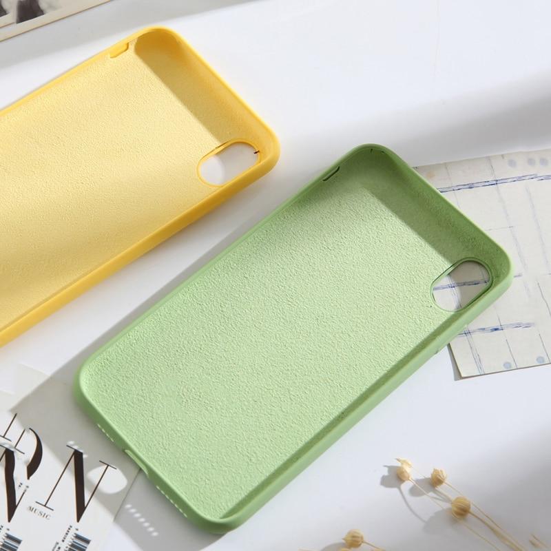 Image 4 - Lovebay высококачественные жидкие силиконовые чехлы для iphone 7 6 6 S 8 Plus XS Max XR X модный противоударный цветной чехол для телефона-in Подходящие чехлы from Мобильные телефоны и телекоммуникации
