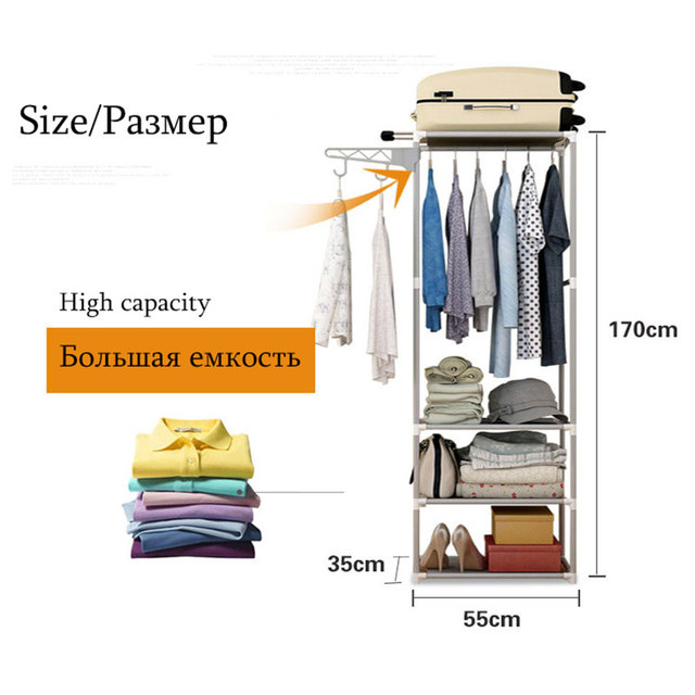 Actionclub Simple Metal Iron Coat Rack Floor Standing Clothes Hanging Storage Shelf Clothes Hanger Racks Bedroom Furniture 3