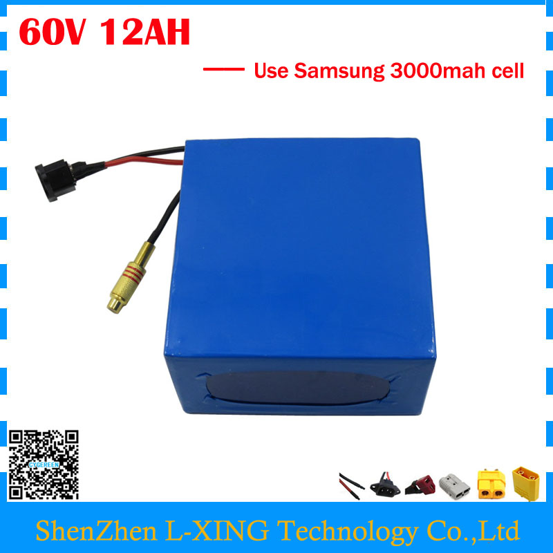 60 V Lithium battery 60V 12AH 900W electric bike battery 60V 12AH use Samsung 3000mah cell 15A BMS Free customs fee free customs fee 1000w 36v 17 5ah battery pack 36 v lithium ion battery 18ah use samsung 3500mah cell 30a bms with 2a charger