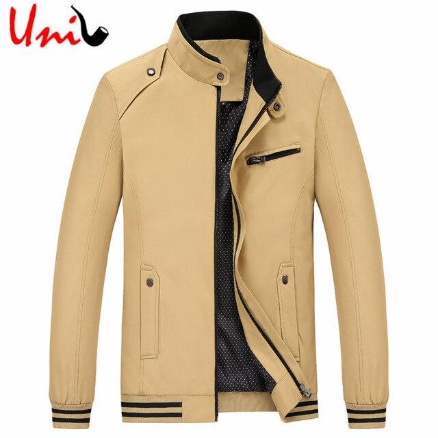 Uni-Splendor 2016 Men Classic Jacket Fashion Men's Casual Zipper Jackets Autumn Warm Regular Coat XXXXL Male Outerwear YN837