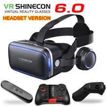 Original VR shinecon 6.0 Standard edition and headset version virtual reality glasses 3D VR glasses headset helmets smartphone vr shinecon google cardboard pro version 3d vr virtual reality 3d glasses smart vr headset