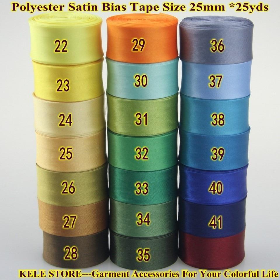 Free Shipping Polyester Satin Bias Binding Tape,bias