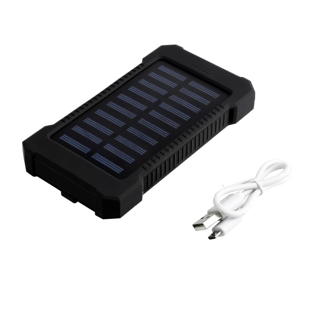 Solar Power Bank 10000mAh Portable Waterproof Solar Charger Powerbank 10000 mah Dual USB External Battery Power Bank