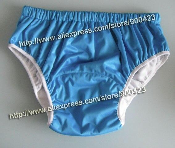 4 цвета на выбор, водонепроницаемые тканевые подгузники для взрослых и детей постарше, подгузники, подгузники для взрослых XS s m l - Цвет: blue