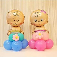 13pcs/set Mini Boy Girl Column Foil Balloons DIY Road Lead Baby Happy Birthday Party Decoration Inflatable Kids Toy Air Balloons(China)