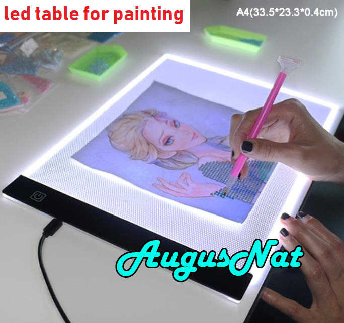 Lámpara de mesa led lámpara diamante herramientas de pintura luz copia Placa de diamante arte accesorios diamant les borderies plein tabletas lateranense de pinturas