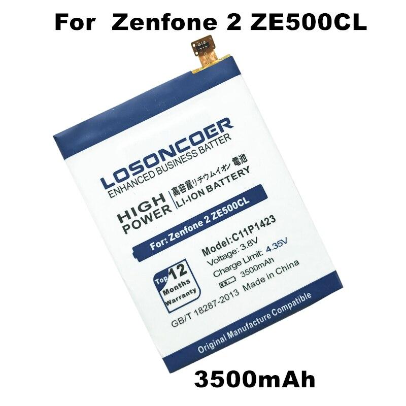 imágenes para ZF2 C11P1423 LOSONCOER 3500 mAh Batería Para Asus Zenfone 2 ZE500CL Z00D Batería