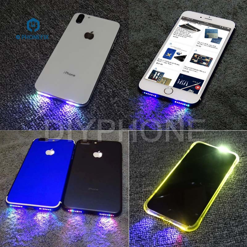 PHONEFIX Loud Speaker LED Glow Flex Cable Light Colorful Glowing Music Lamp For IPhone 7 7P 6 6P 6S 6SP