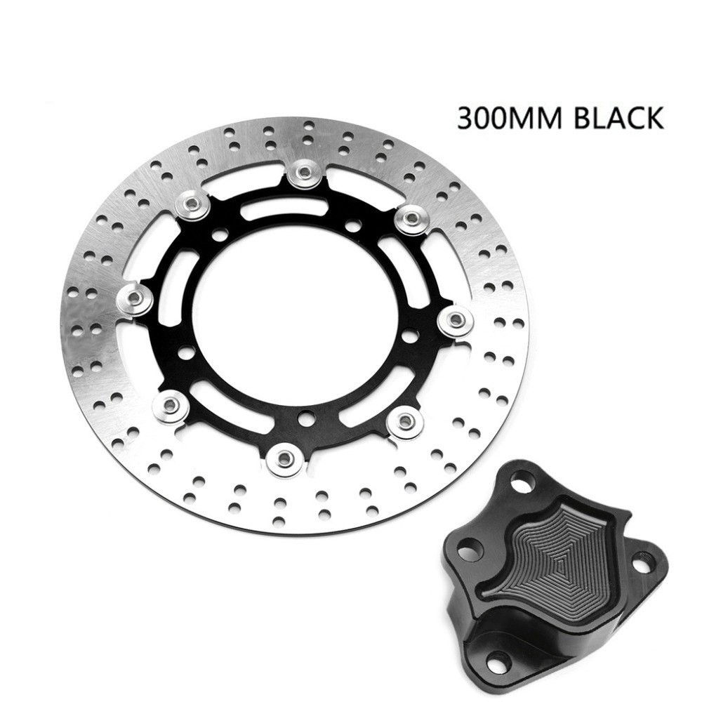 300mm Montorcycle Aluminum Brembo H4 Caliper Brake Connector Floating Brake Disks Set For Yamaha Xmax 300 2016-2018