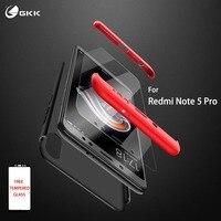 GKK-funda para xiaomi redmi Note 5, 6, 7 pro, cristal 360, protección completa, a prueba de golpes, PC duro, funda trasera para Redmi Note 5 pro