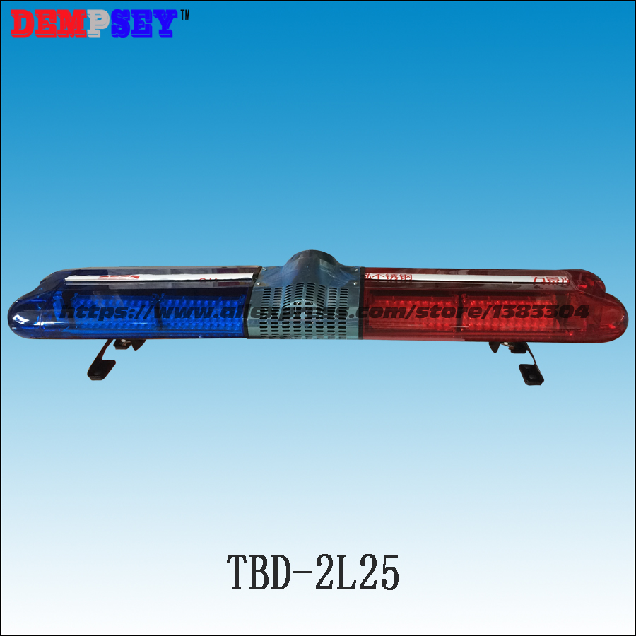 Wholesale Pirce!!! TBD-2L25 LED lightbar/Police/Car Flash Warning Lights/ DC12V/ 1.2m length with 100W siren & 100W speaker 120cm 64w led police lightbar ambulance lights firemen light bar 100w loudspeaker 100w police warning siren waterproof