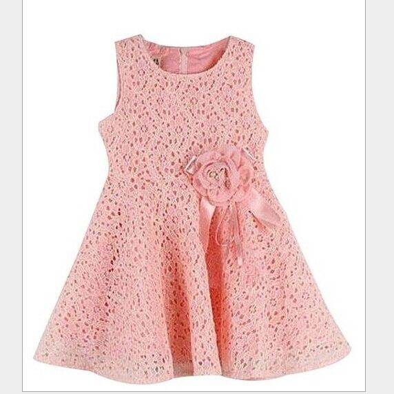 Nuevo verano elegante vestido de encaje para niñas adolescentes ...