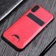 Luxury PU Leather Case For iPhone X 8 7 Plus Case Ultra Thin Card Slot Shockproof Back Cover For iPhone 7 Plus 8 Plus Case Coque sldpj stylish ultra thin protective pu leather case cover w visual window for iphone 4 4s red