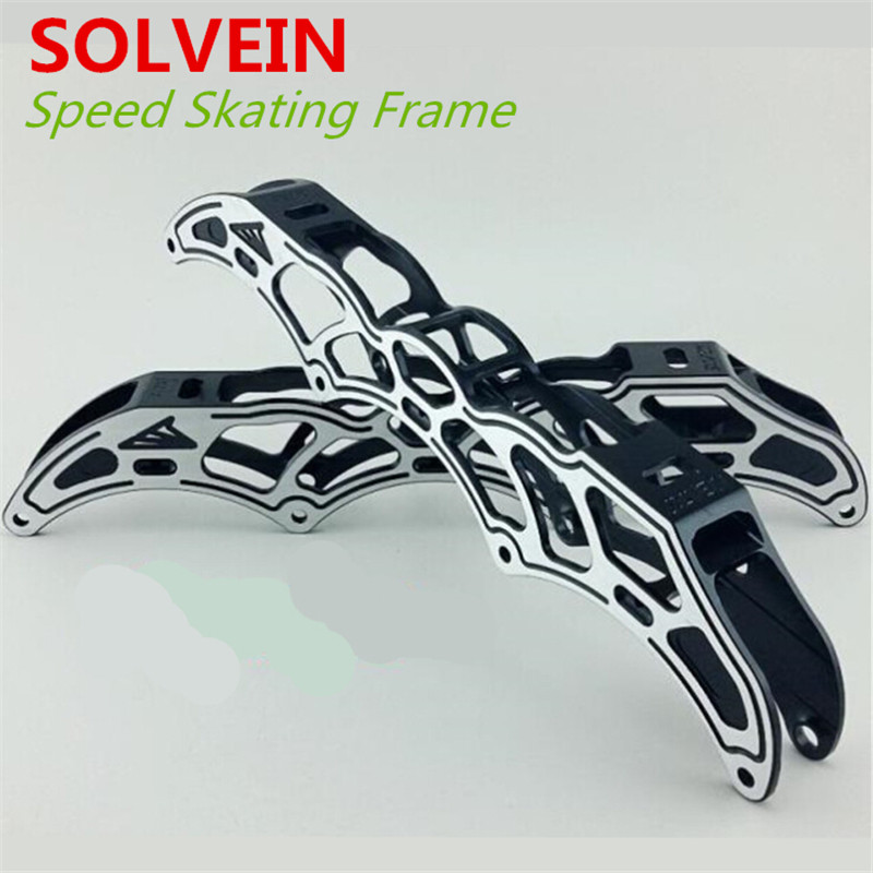 SOLVEIN Inline Speed Skate Frame, 4X90mm 4X100mm 4X110mm, 195mm Boot Nail Distance, For PowerSlide STS CITYRUN [7000 aluminium alloy] original vortex inline speed skate frame base for 4x110mm 4x100mm 4x90mm skating shoe bcnt sts cityrun