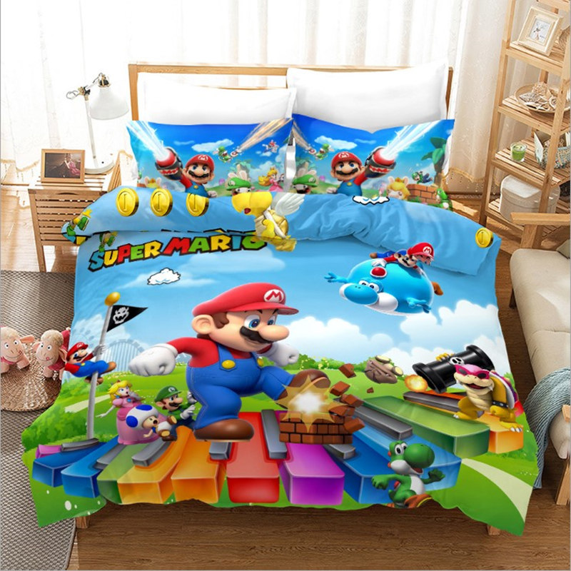 However, while it may look similar, this is a completely redesigned game that plays very differently from its nes brother. Bowser Koopa Luigi Figure Duvet Cover Pillow Case Set Bedding Super Mario Bros
