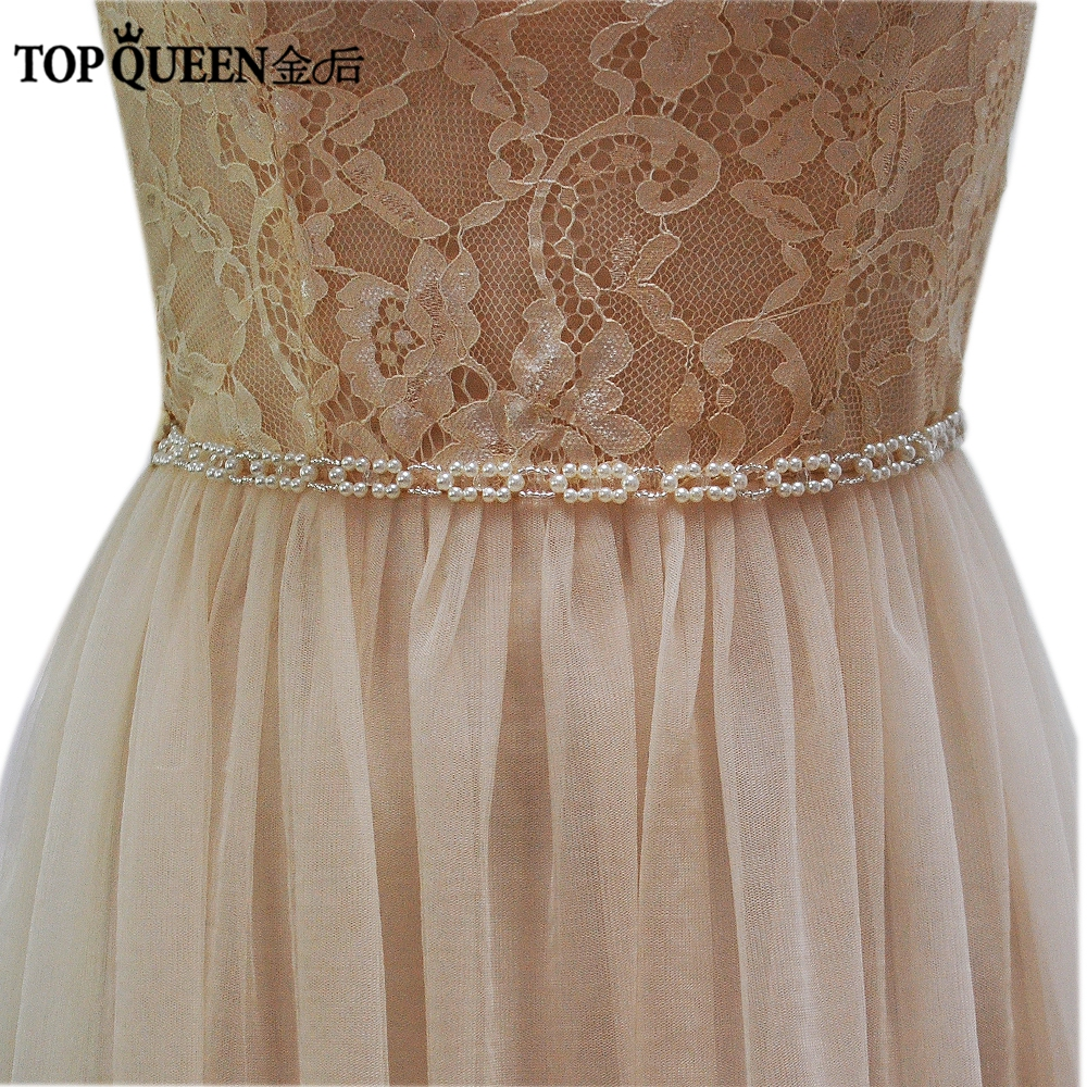 TOPQUEEN S246-I Fast Delivery Iivory Pearl Beading Belts Fashion Pearl Wedding Bridal Sash Wedding Belts For Evening Party