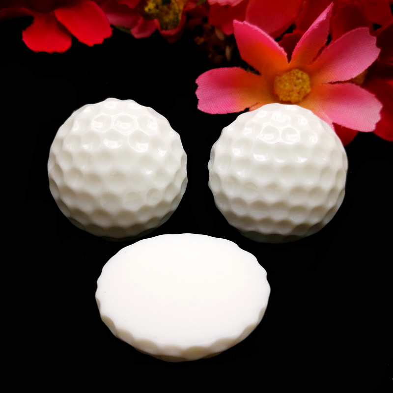 50pcs/Lot 25mm Golf Ball Resin Flatback Cabochon American Sport Ball Flat Back Scrapbooking DIY Hair Bow Center Embellishments