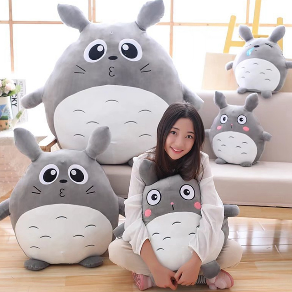 Fancytrader Japan Anime Totoro Plush Toy Giant 90cm Cute Cartoon Stuffed Totoro Doll Kids Pillow Baby Bedroom Decoration 55cm cute cartoon lilo and stitch warm hand pillow plush toy doll stuffed pillow cushion toys dolls warm hands stitch kids toy
