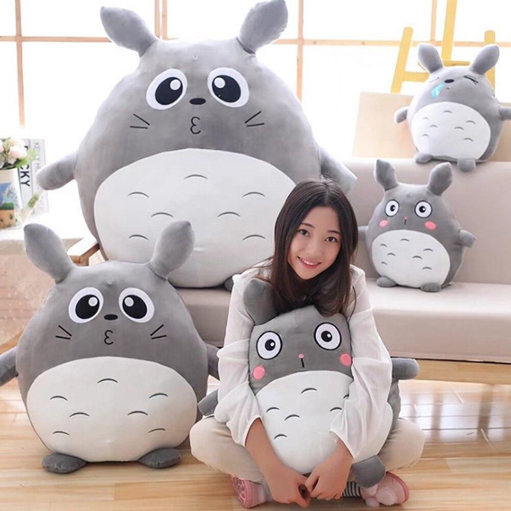 Fancytrader japon Anime Totoro peluche jouet géant 90 cm mignon dessin animé peluche Totoro poupée enfants oreiller bébé chambre décoration