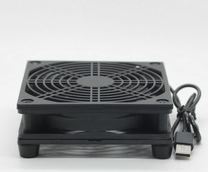 Image 3 - Ventilateur de refroidissement pour routeur usb, boîtier TV sans fil, bricolage, alimentation USB 5V, ventilateur 120mm, 120x25mm, 12CM avec vis, filet de protection
