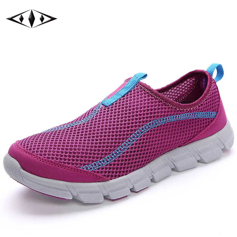 2016 LEMAI New Simple Women Athletic Shoes Summer Breathable Mesh Sneakers Super Light Running Shoes For Women FB012-2