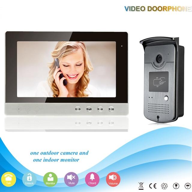 "10"" High Resolution 1024 X 800 Color Video Doorphone  700TVL Outdoor Doorbell Camera Night Vision Mointor Door  Intercom Systems"