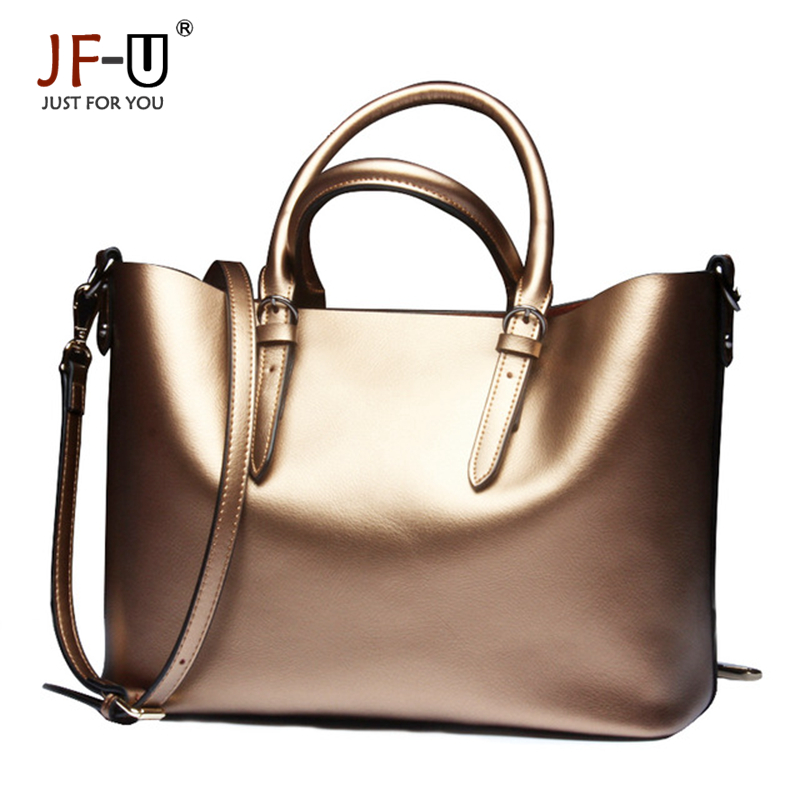 ФОТО JF-U Genuine Leather Bag Casual Tote Composite Luxury Handbags Women Bags Designer Kabelky Women 2016 sac a main femme de marque
