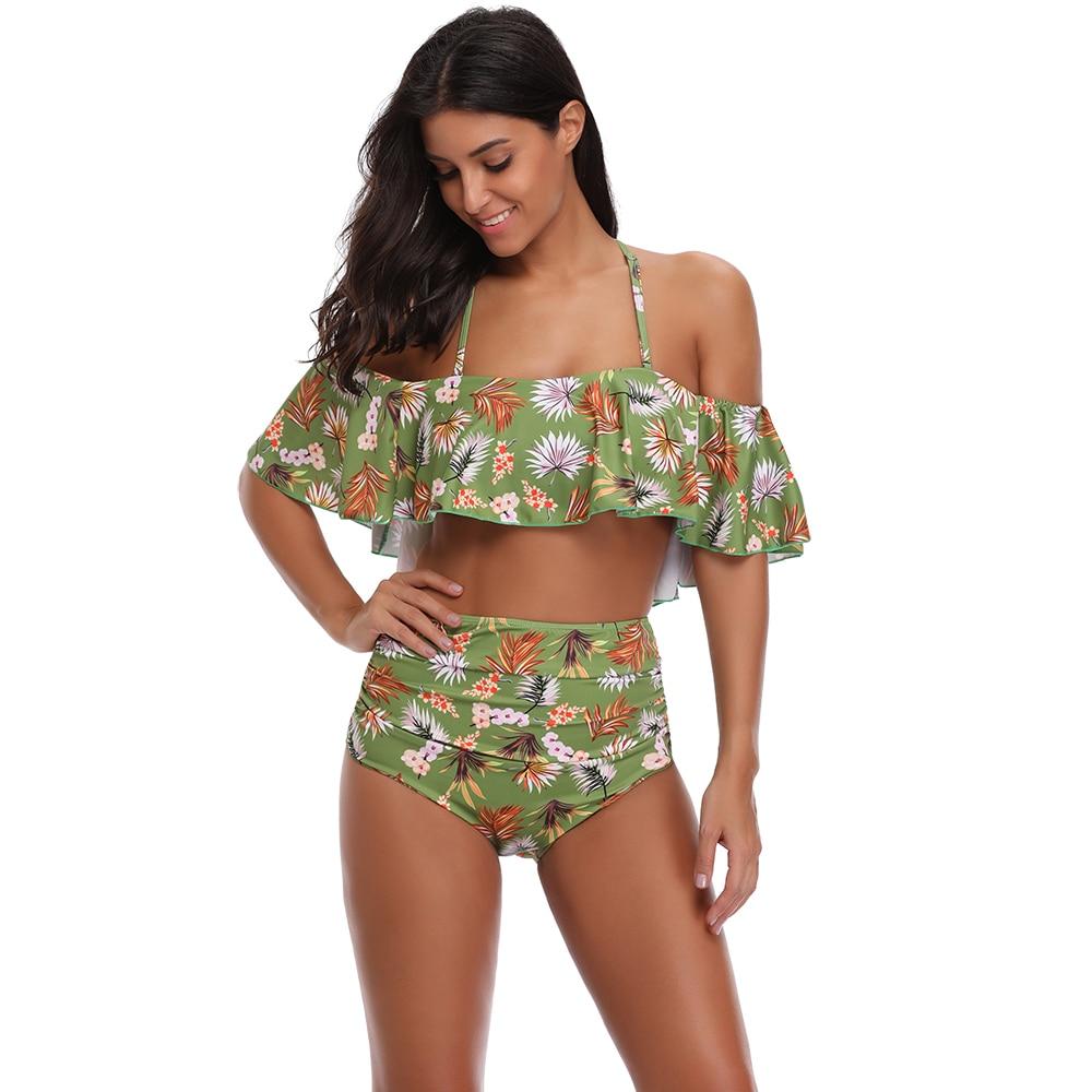 Verbazingwekkend Beste Koop 2018 Sexy Bikini Set Hoge Taille Badmode Vrouwen FO-76
