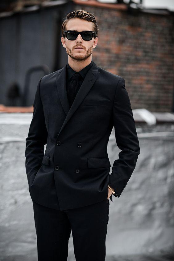 Popular Mens Black Double Breasted Blazer-Buy Cheap Mens Black ...