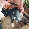 Верхняя часть тела очень хорошо! 9a11c отверстие стиральные джинсы все-матч джинсы 2 футов