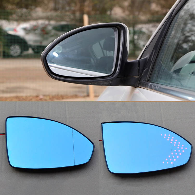 Ipoboo 2pcs New Power Heated w/Turn Signal Side View Mirror Blue Glasses For Chevrolet Cruze