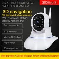 WIFI IP Camera 3D navigazione Internet video HD di rete Wireless di Sorveglianza di Sicurezza Domestica 360 fish Eye CCTV Baby Monitor 2.0MP