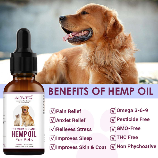 Flea & Tick Prevention Solution Immunity Joint Hip Support Natural Hemp Essential Oil 500Mg