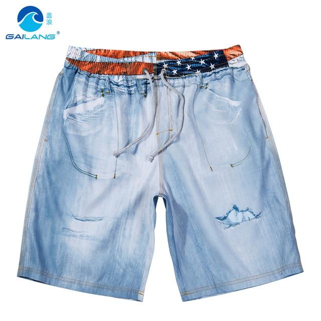 Крышка волна мужской личности стиральная цвет пляж брюки, случайные шорты брюки пять Корейских свободные брюки