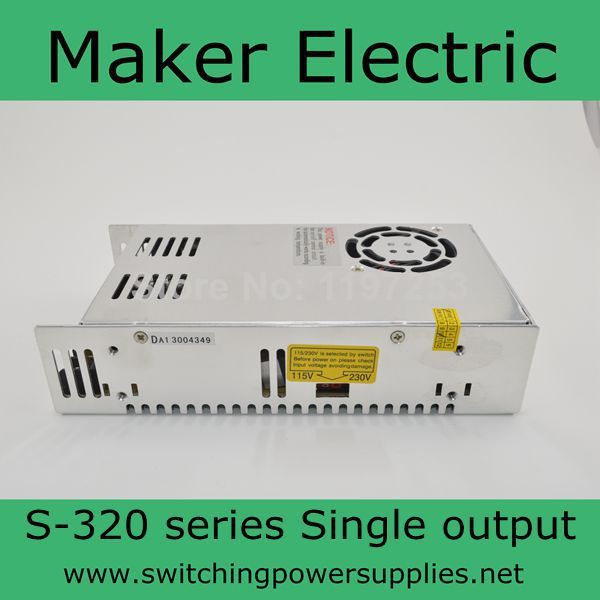 high efficiency single Output Switching power supply S-320-48  48V 6.5A 400w high power switching power supply 800w 48v 16 5a s 800 48v single output