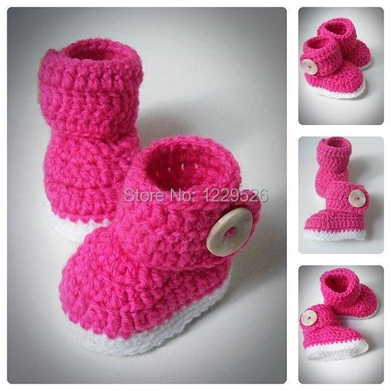 Super Cremisi scarpette neonato uncinetto, uncinetto neonato scarpe  NR45