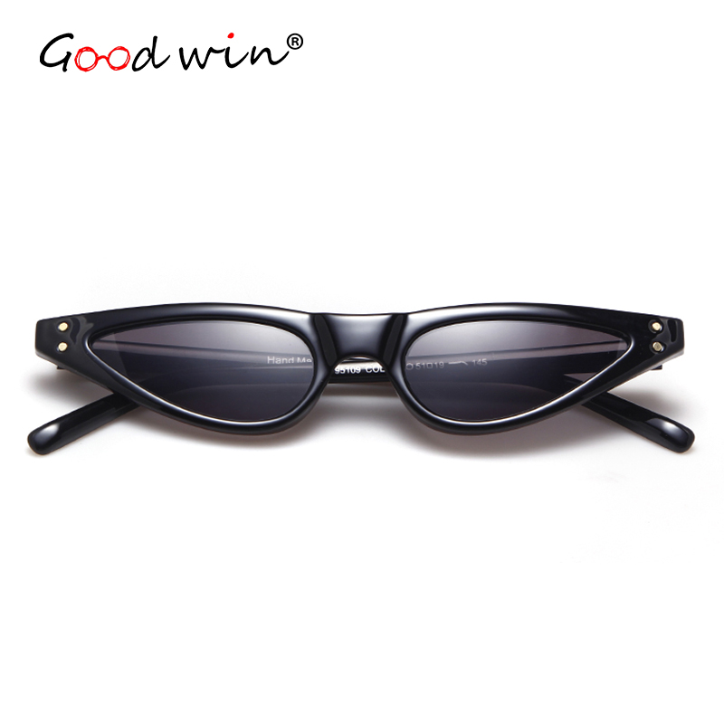 0c3fd1c1c2 GOOD WIN Super Small Cat Eye Sunglasses Retro 90s Stylish Triangle Chic Sun  Glasses Rivets Black White Red 2018 Hot Point Ladies-in Sunglasses from  Apparel ...