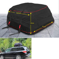 Waterproof Oxford Cloth 5 92 Cuft Car Roof Cargo Carrier Folding Soft Shell Bag