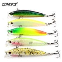 LINGYUE 8.5cm/7.5g Fishing Lures High Quality Minnow Wobblers Fishing Tackle 5 Colors Lifelike Plastic Fake Fish Bait Wholesale