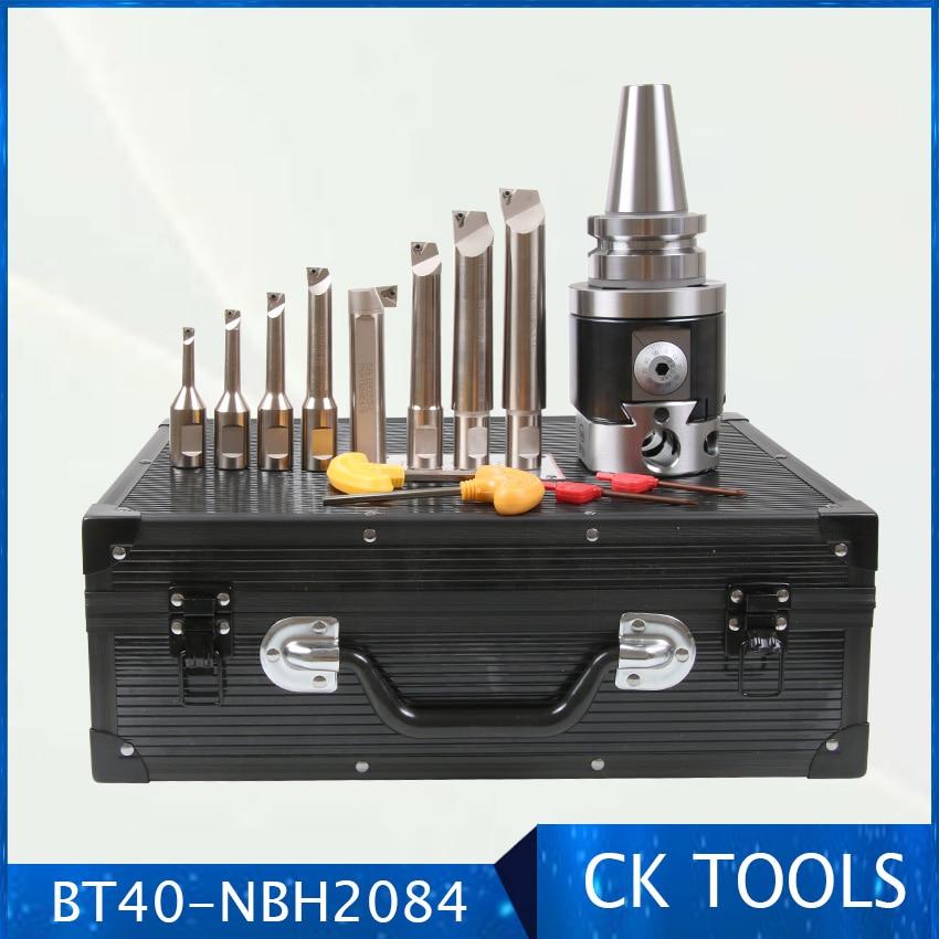 Qualidade Precisão NBH2084 8-Sistema de 280 milímetros Cabeça Chata BT40 M16 Titular + 8 pcs 20 milímetros Chato Bar chato 8 tocou-280 milímetros Conjunto de Ferramentas Chato