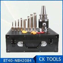 Precisione di qualità NBH2084 8 280mm sistema di testa noiosa supporto BT40 M16 8 pezzi 20mm barra di alesatura alesatura Set di strumenti di alesatura 8 280mm