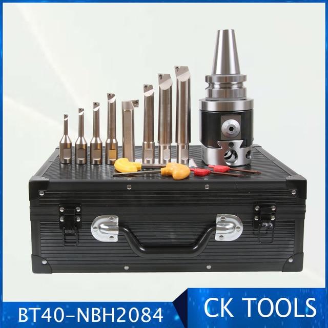 quality Precision NBH2084 8 280mm Boring Head System BT40 M16 Holder +8pcs 20mm Boring Bar Boring rang 8 280mm Boring Tool Set