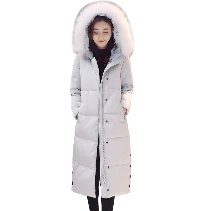 women's Winter whiter duck   down     coats   Long hooded collar warm jackets Thicken   Down   Jackets Women's Snow Outerwear Parkas QH0890