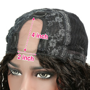 Image 2 - Liweike brezilyalı derin kıvırcık U parçası peruk Remy İnsan saç tutkalsız peruk doğal 1B renk 150% 300% yoğunluklu 2*4 ayrılık uzay