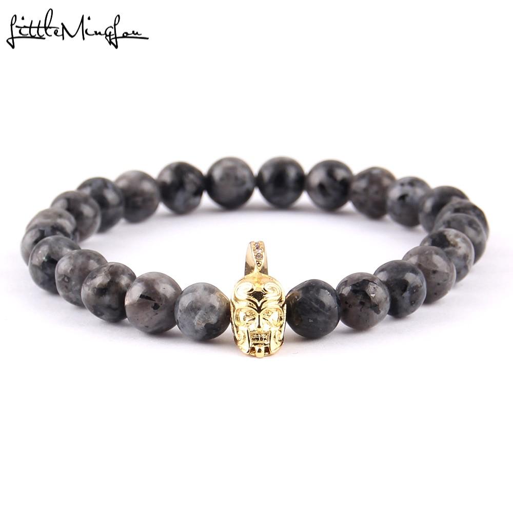 Men Ancient Roman Gladiator Shield Hip Hop Character Leather Bracelet Wristband