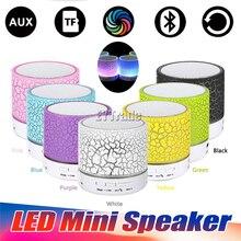 50PCS Lot LED Mini Wireless Bluetooth Speaker TF USB FM A9 S10 Portable Music Loudspeakers Hand