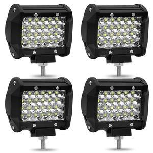 Image 5 - Barra de luces Led de 4 pulgadas, 72W, cuatro filas, 12V, 6000K, foco de trabajo para coche, luces de circulación diurna, luz de techo todoterreno modificada, decoración de coche