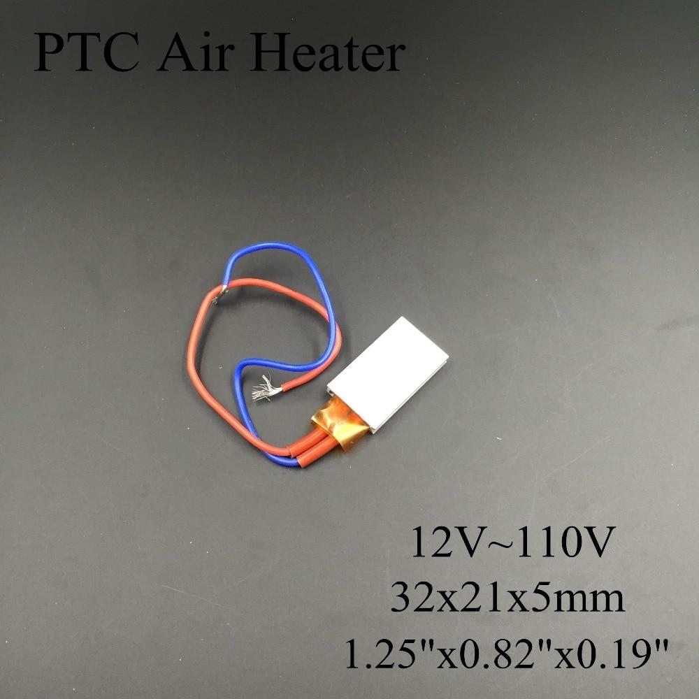 (5 pieces/lot) 12V/24V/36V/48V/110V 35x21x5mm PTC Thermostat Aluminum Heating Element Ceramic Air Heater Plate Incubator glukhar v