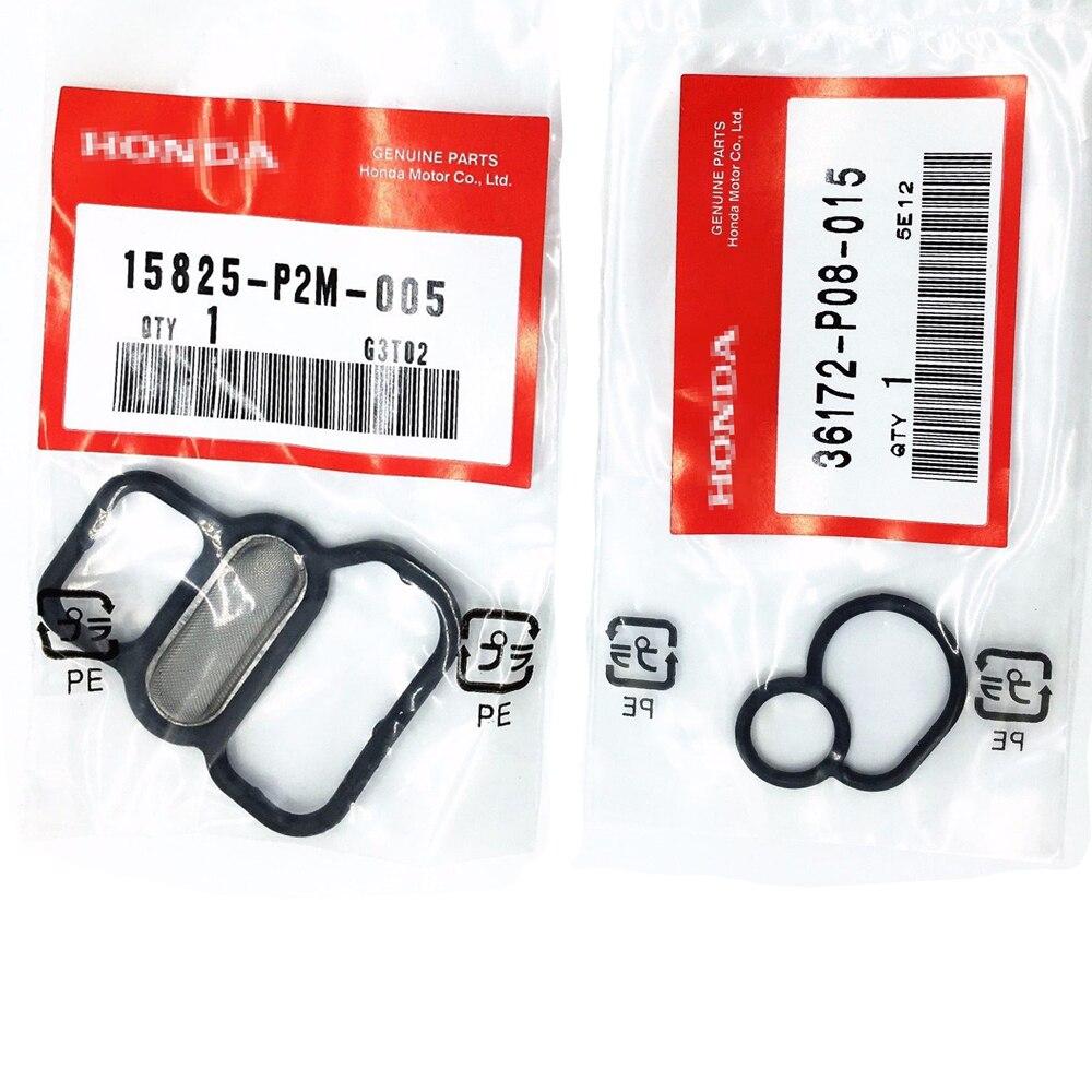 ใหม่ 15825-P2M-005/36172-P08-015 VTEC SOLENOID ปะเก็นสำหรับ HONDA 1996-2005 CIVIC D16 D17