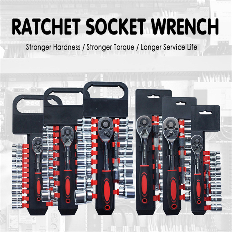 New Ratchet Wrench Kit Universal Sockets Wrenches Spanner For Bicycle Motorcycle Car Home Hand Repair Tool Set Auto Accessories